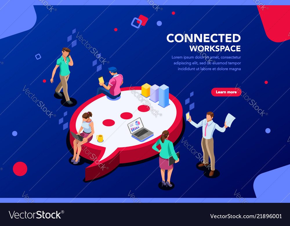 Connected people isometric