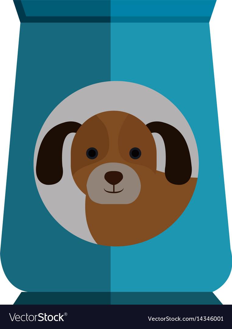 Dog Food Bag Icon Vector Image
