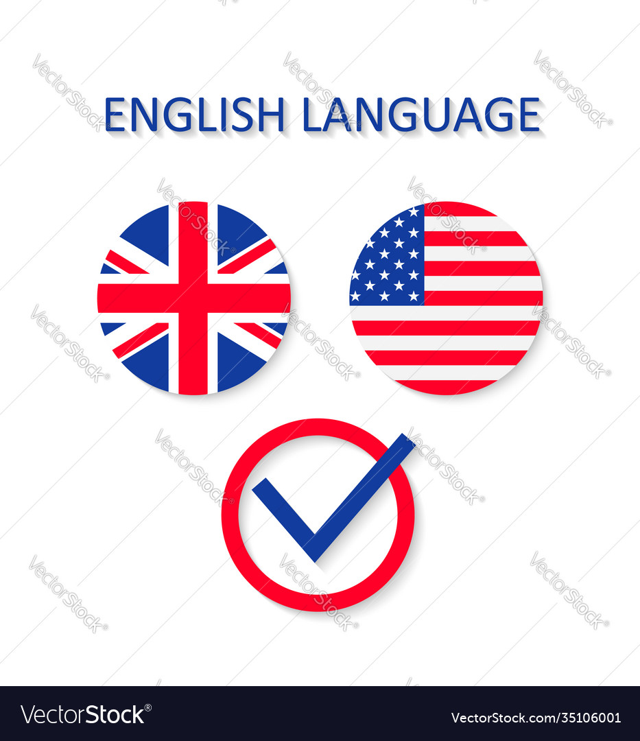 English and us language icon british