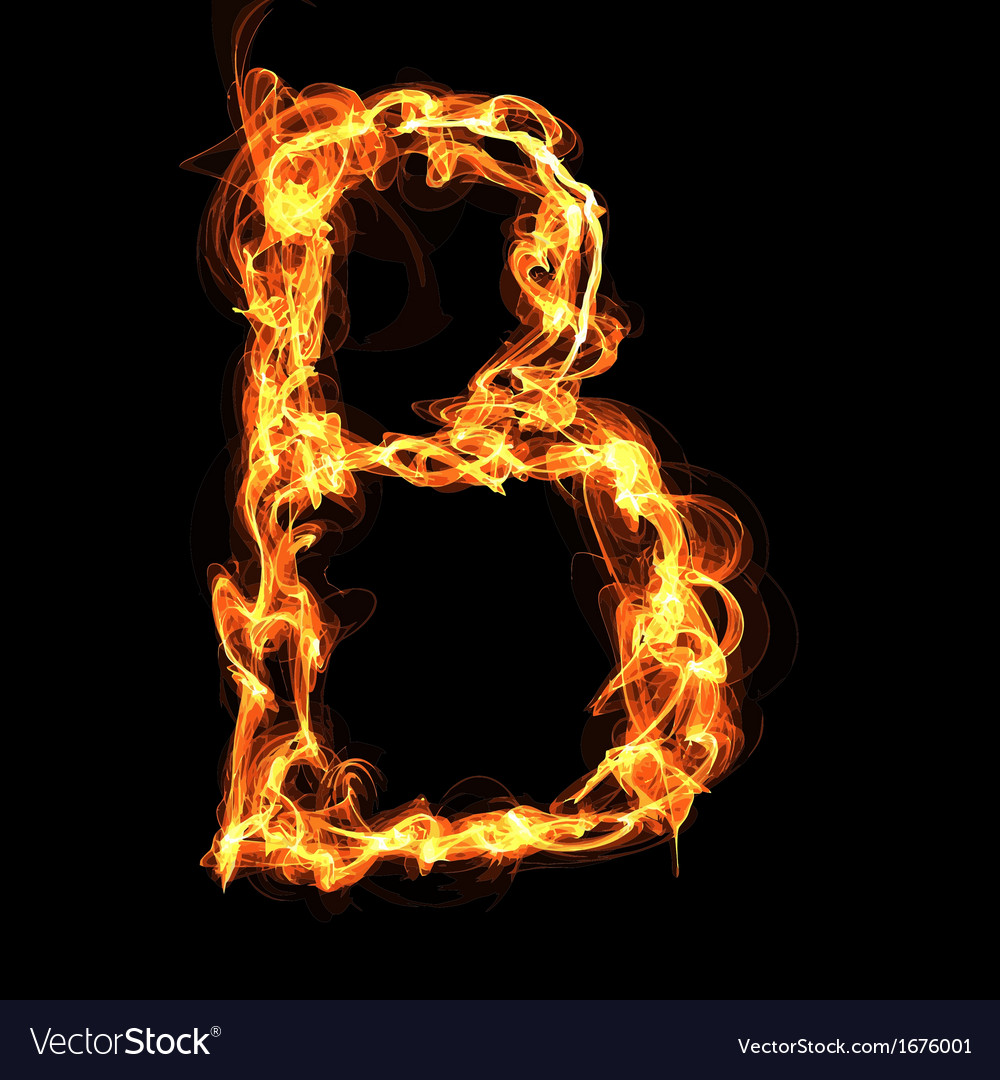 Fire alphabet letter royalty free vector image fire alphabet letter vector image altavistaventures Images