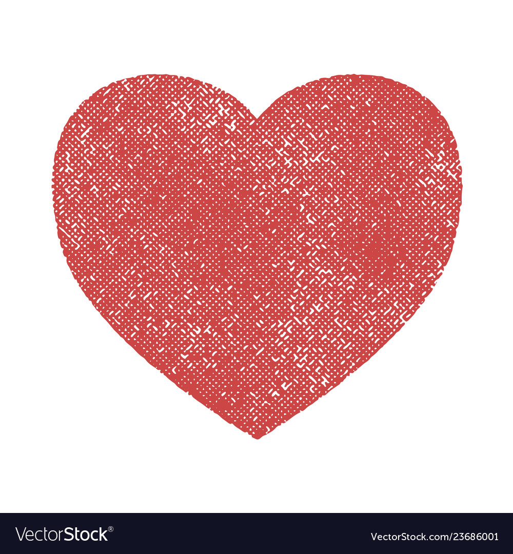 Grunge heart isolated