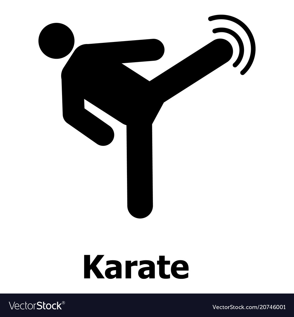 Karate icon simple style