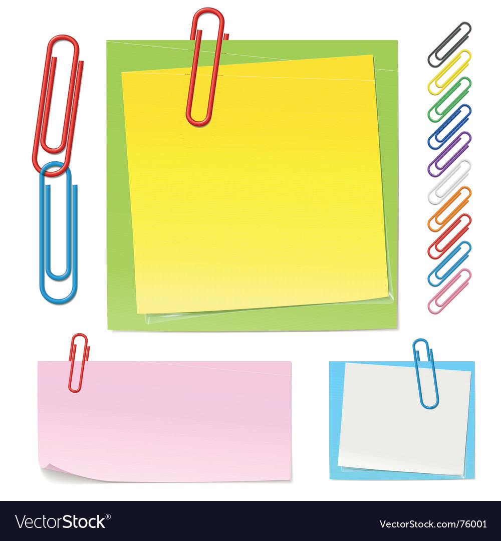 Paper clips icons vector image