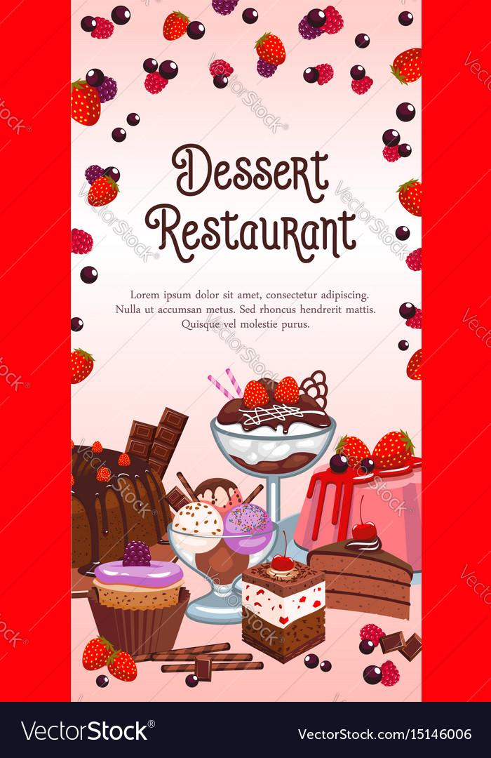 Bakery dessert banner for restaurant