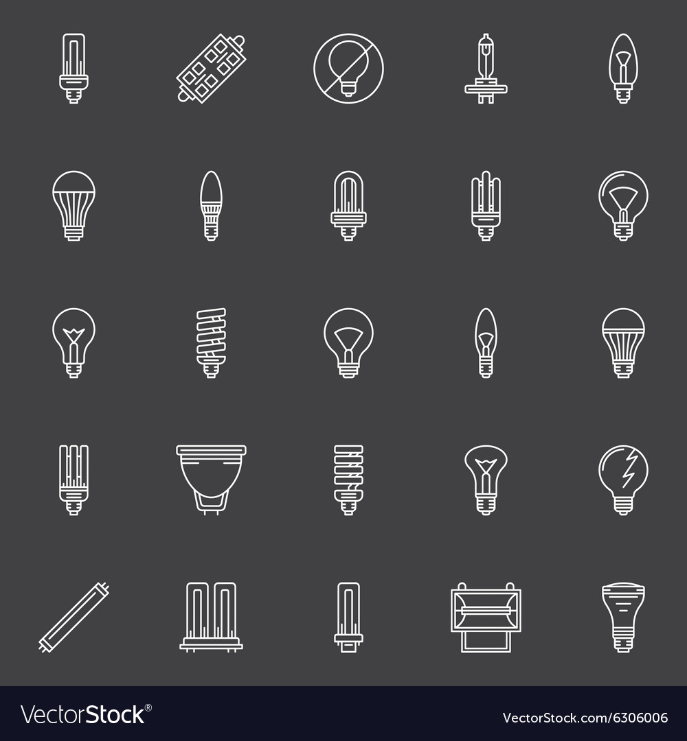 Bulbs icons set