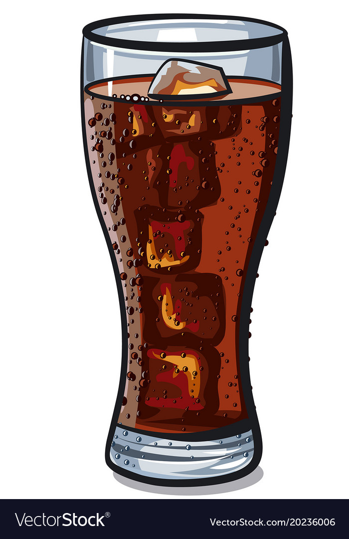 Cola Glass With Ice Cube Royalty Free, Glass Ice Cubes Vector