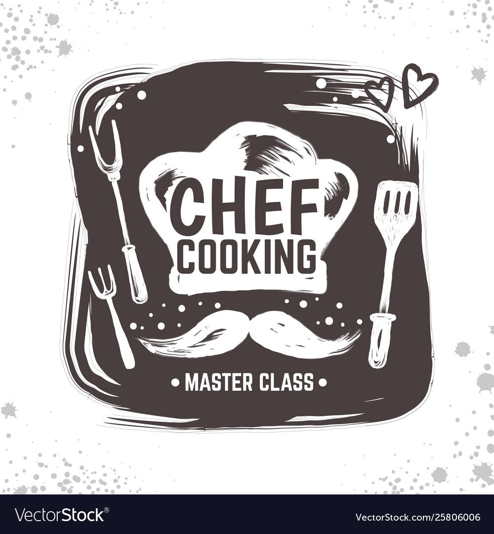 Cook doodle logo restaurant sketch poster food