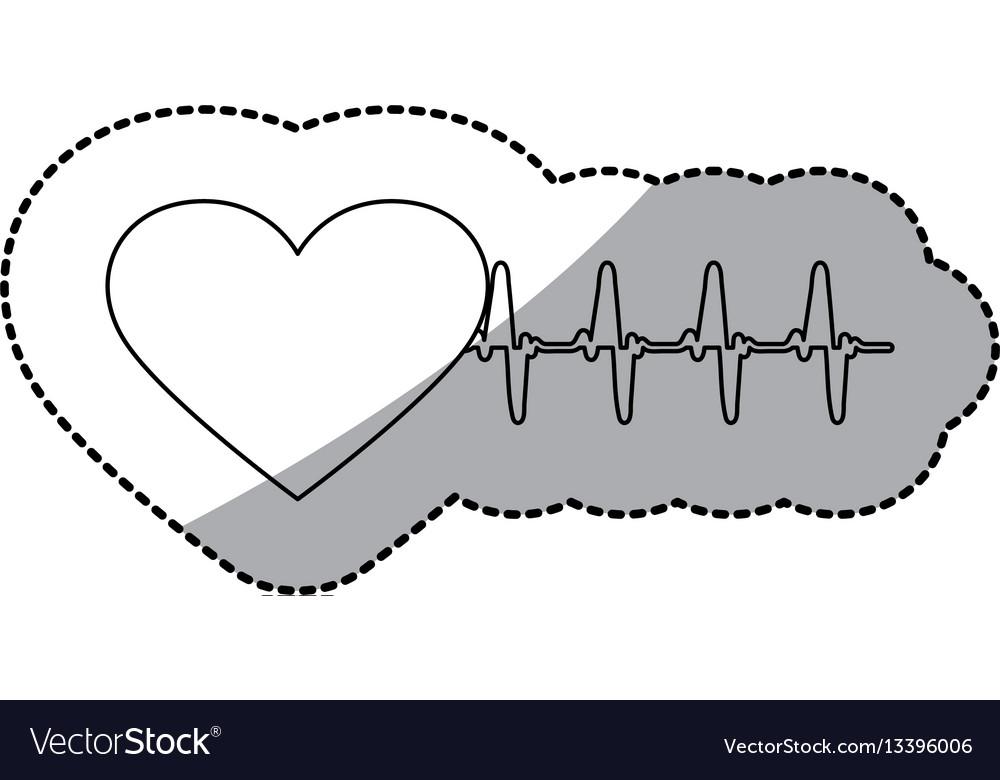 Figure sticker heartbeat icon