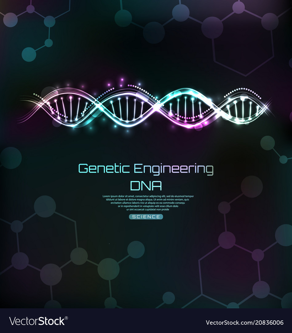 Genetic engeneering template dna molecules spiral