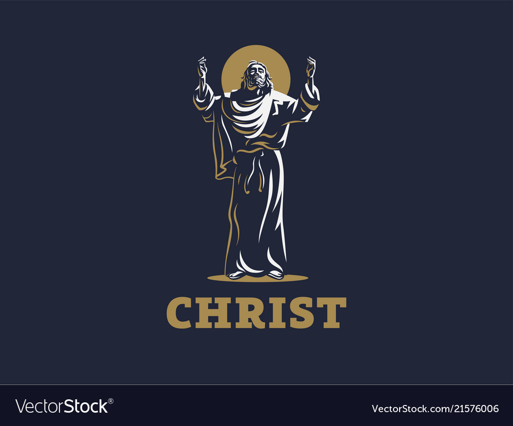 Jesus raised his hands in prayer