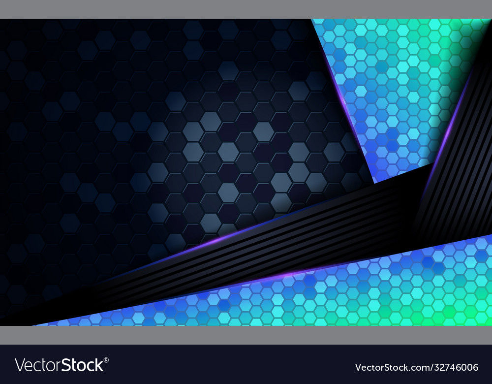 Modern dark abstract background with shinny blue