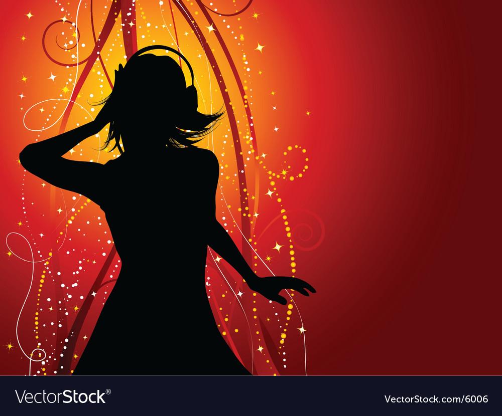 Music female vector image