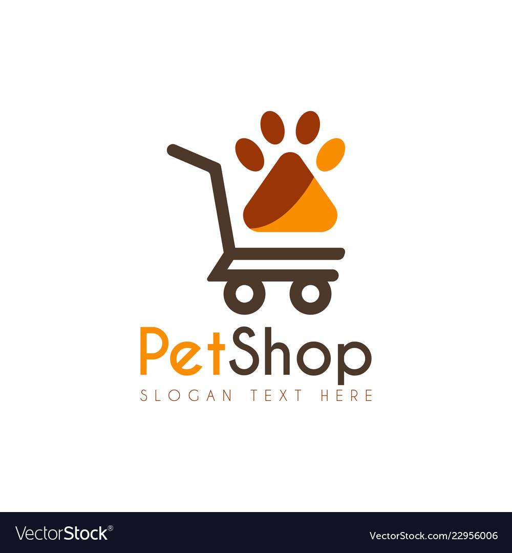 Pet shop logo icon symbols and app icon