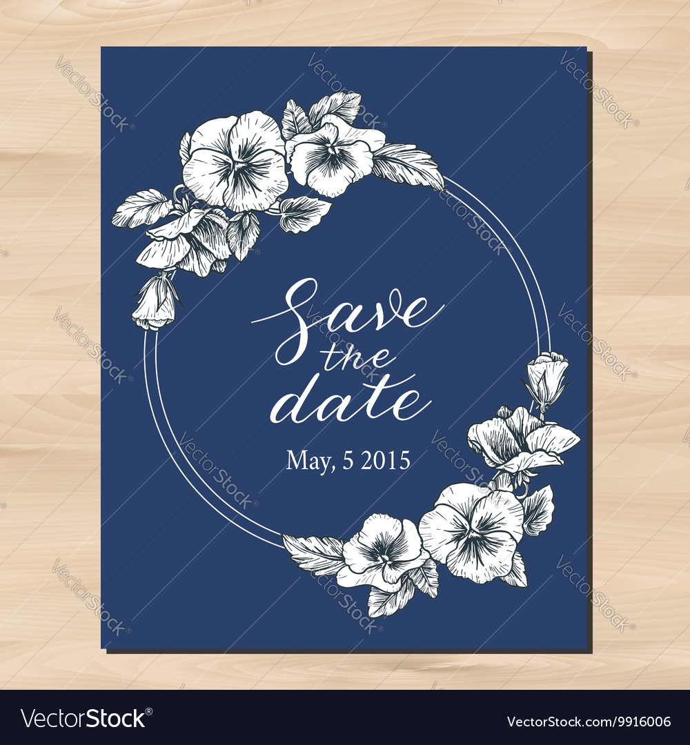 save the date wedding invitation royalty free vector image