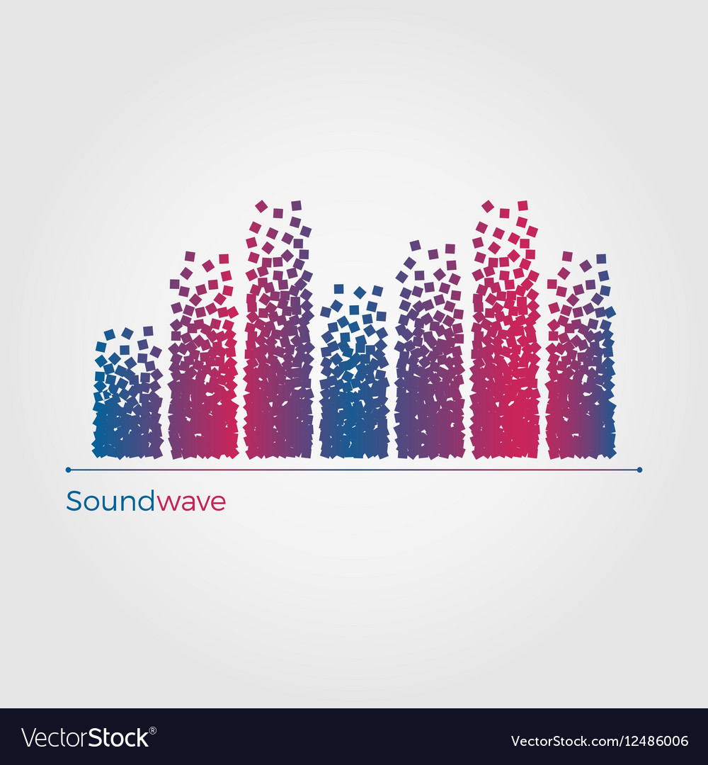Soundwave concept vector image