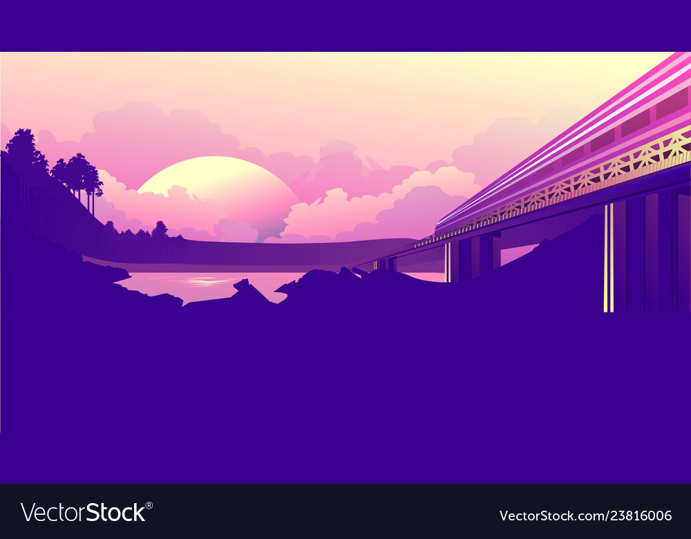 Train journey dawn
