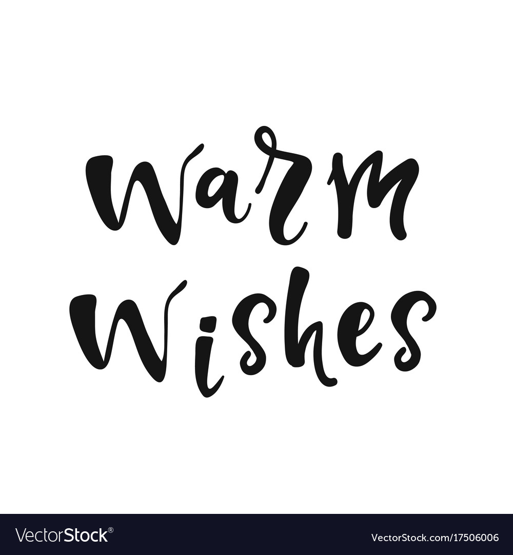 Warm wishes vector image