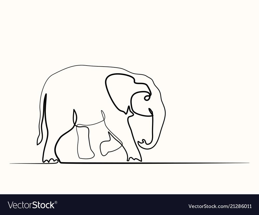 Baby elephant walking symbol