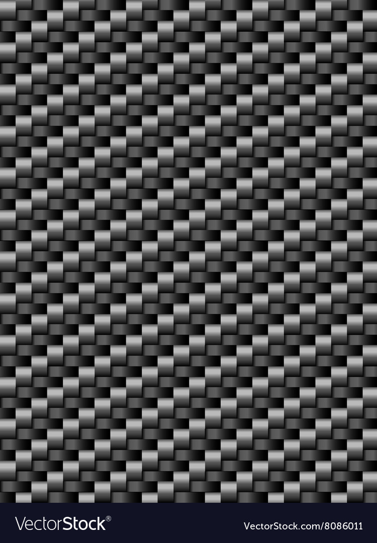 Black weave texture geometric seamless background vector image