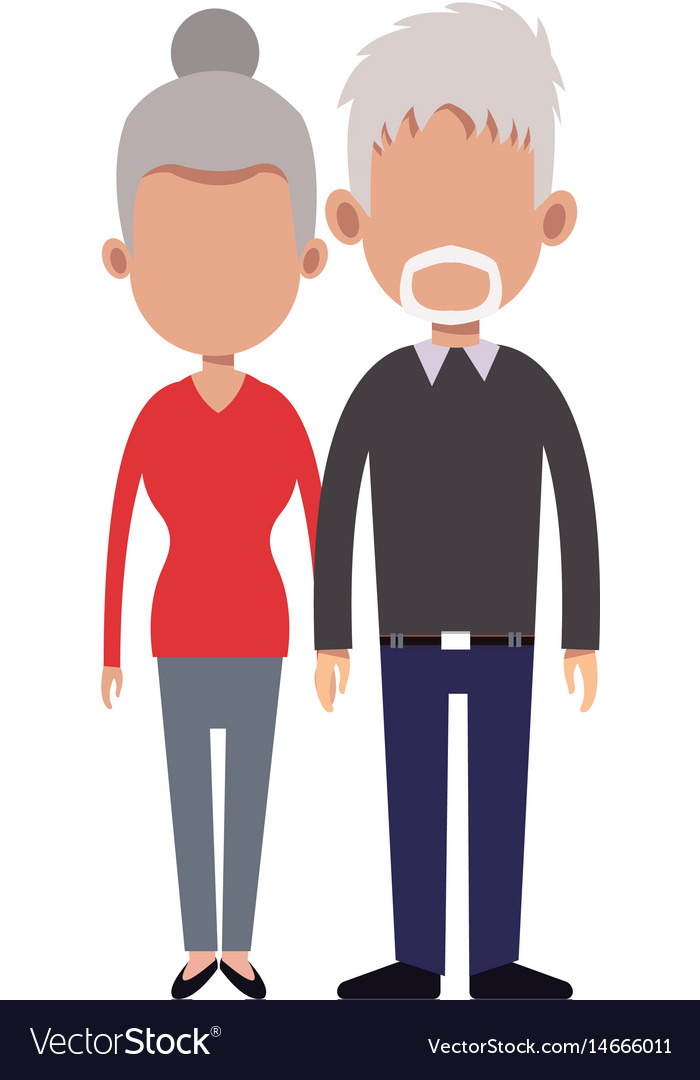 cartoon couple holding hand romantic image vector image rh vectorstock com cartoon image of couple holding hands Couples Kissing Cartoon Dog