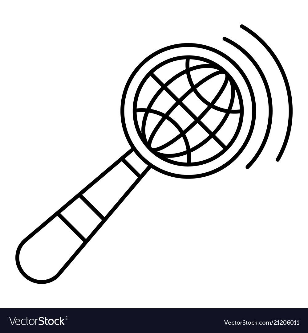 Magnified global glass icon outline style