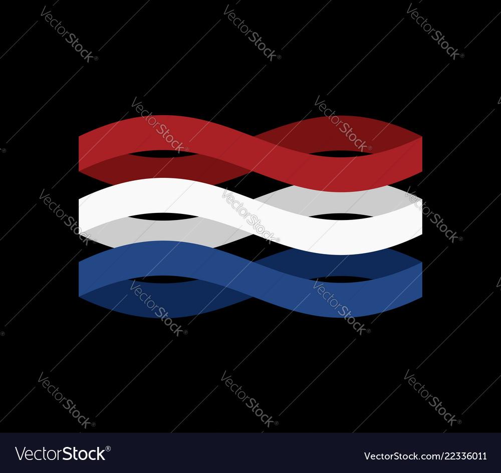 Netherlands flag ribbon isolated dutch tape