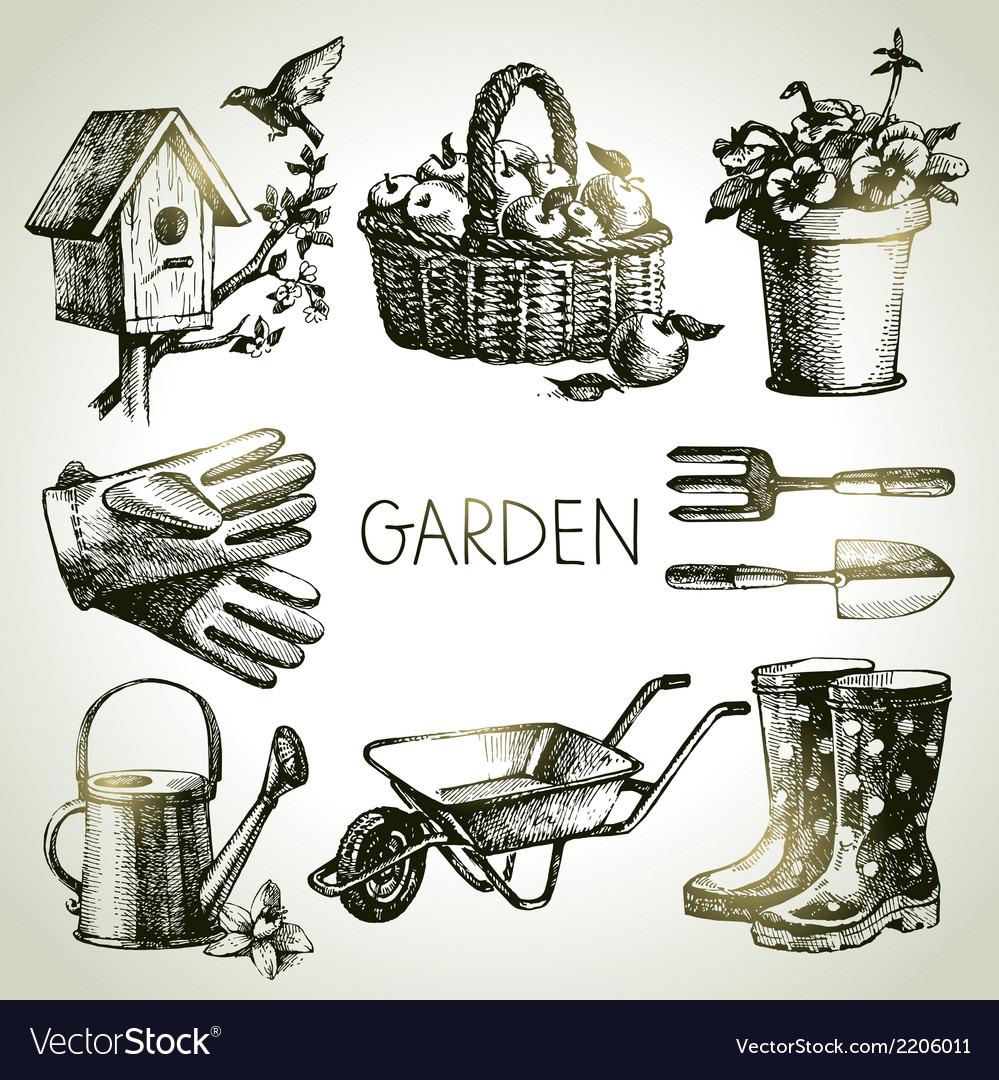 . Sketch gardening set