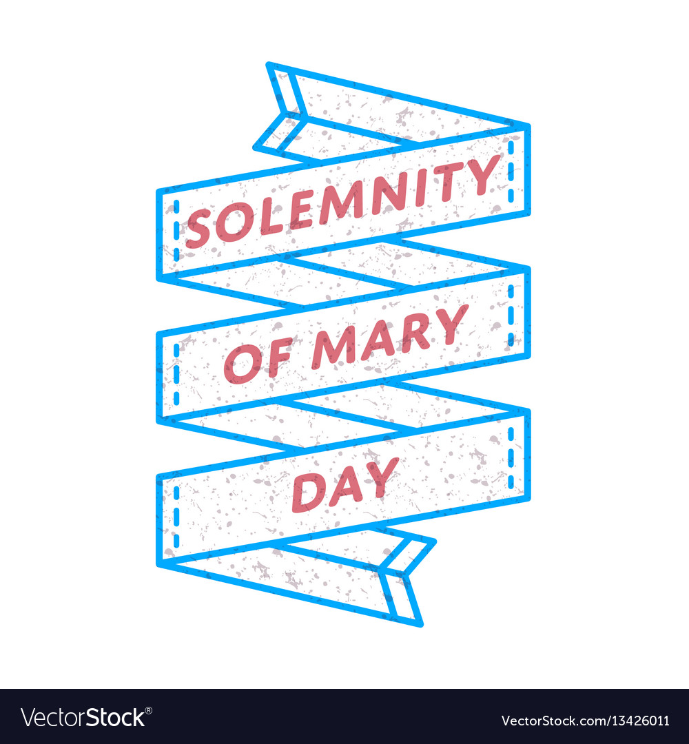 Solemnity of mary day greeting emblem
