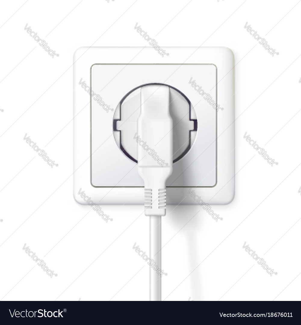 The plug is plugged into the power lines white