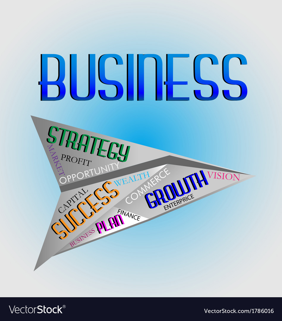 Business words logo