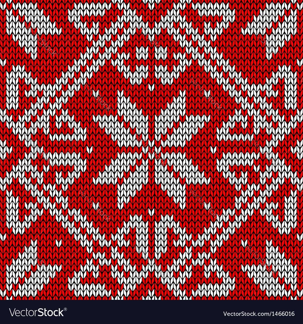 Christmas Knitting Pattern Royalty Free Vector Image