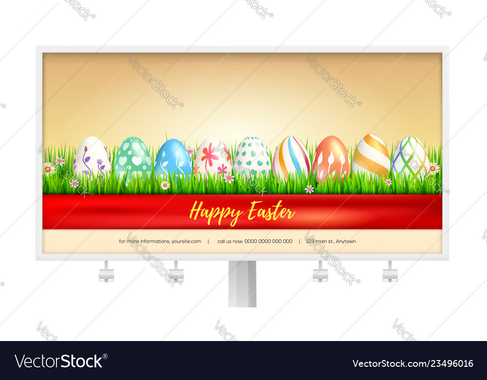 Concept billboard design with easter eggs