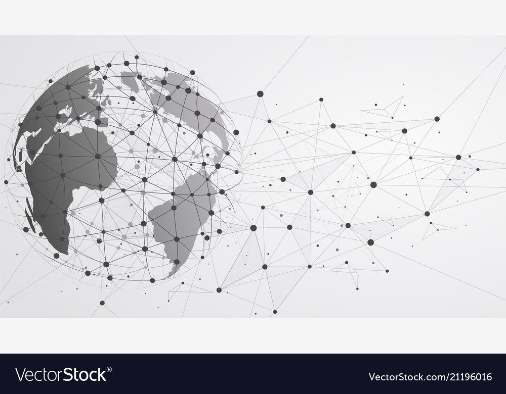 Global network connections with points and lines