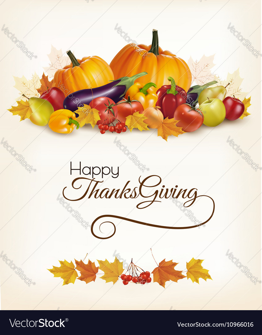Happy Thanksgiving background with colorful autumn