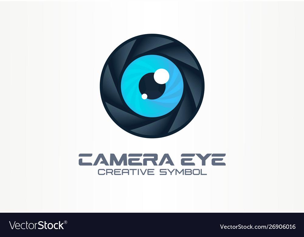 Photo camera eye digital vision creative symbol