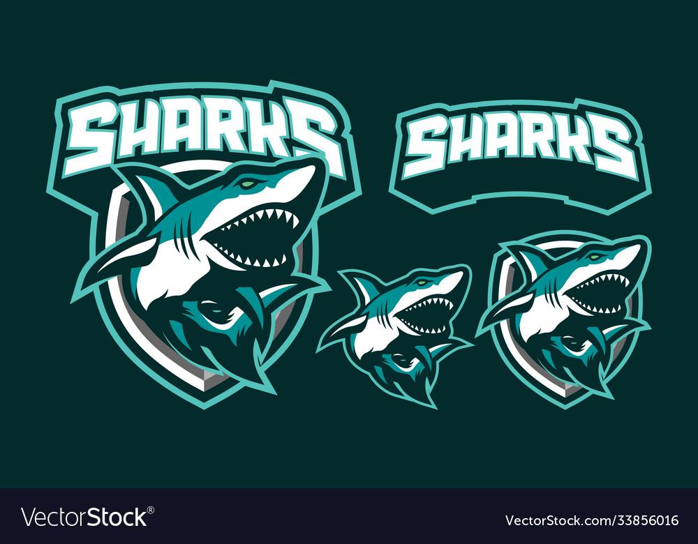 Sharks mascot logo design