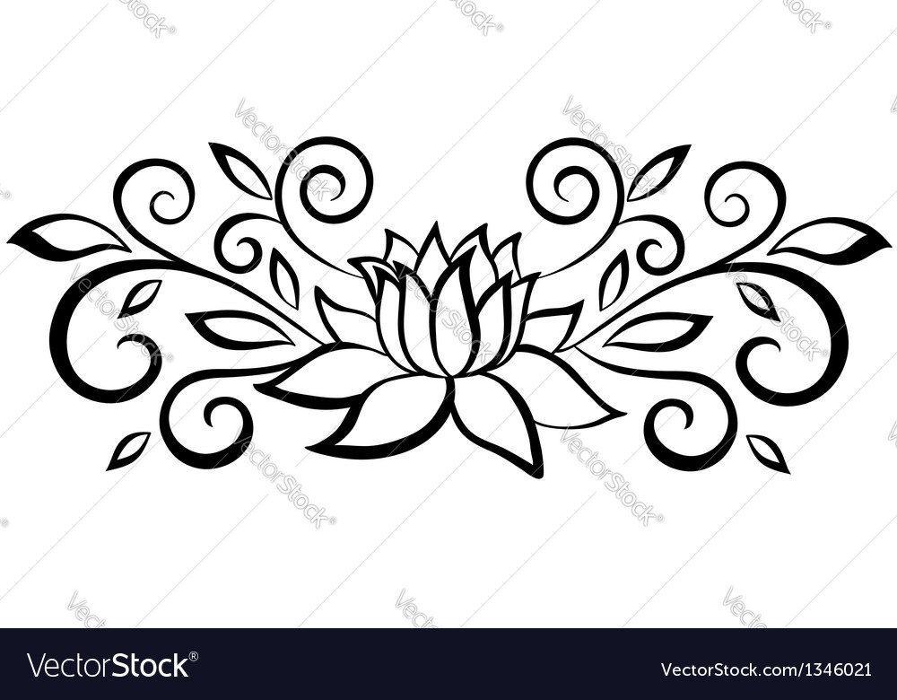 Black And White Abstract Flower Royalty Free Vector Image