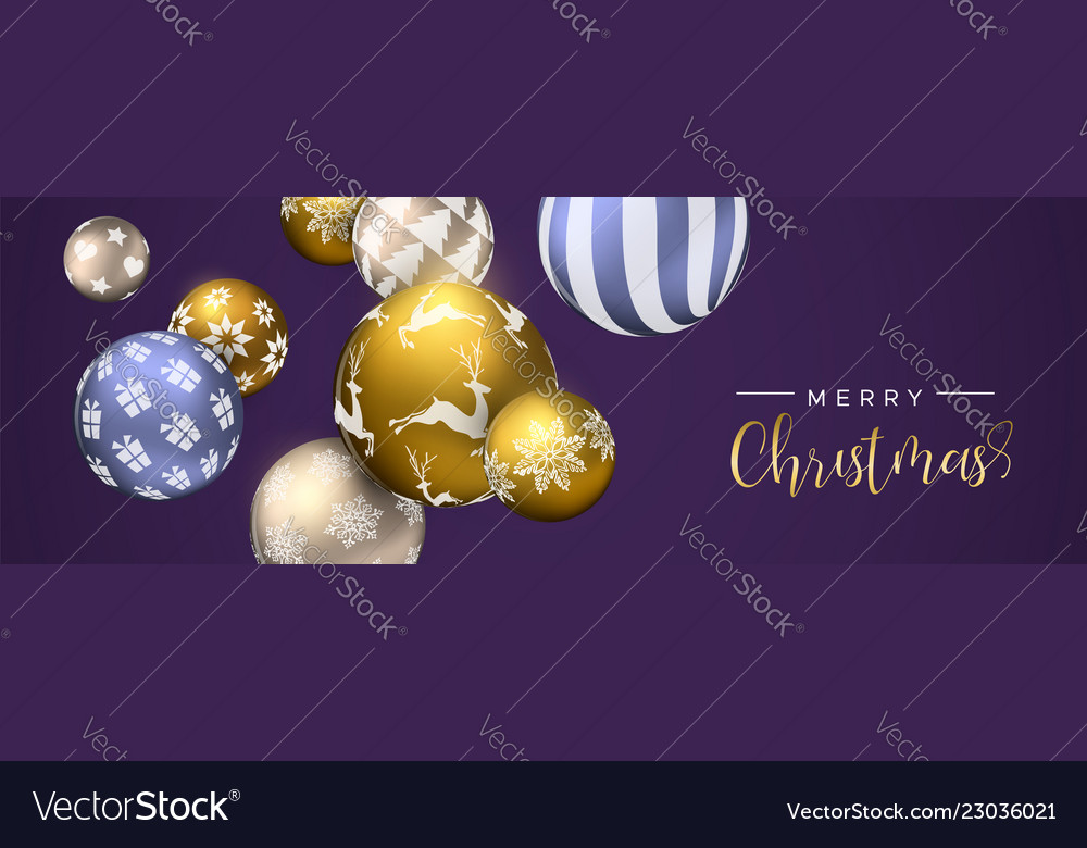 Christmas purple bauble ornament web banner