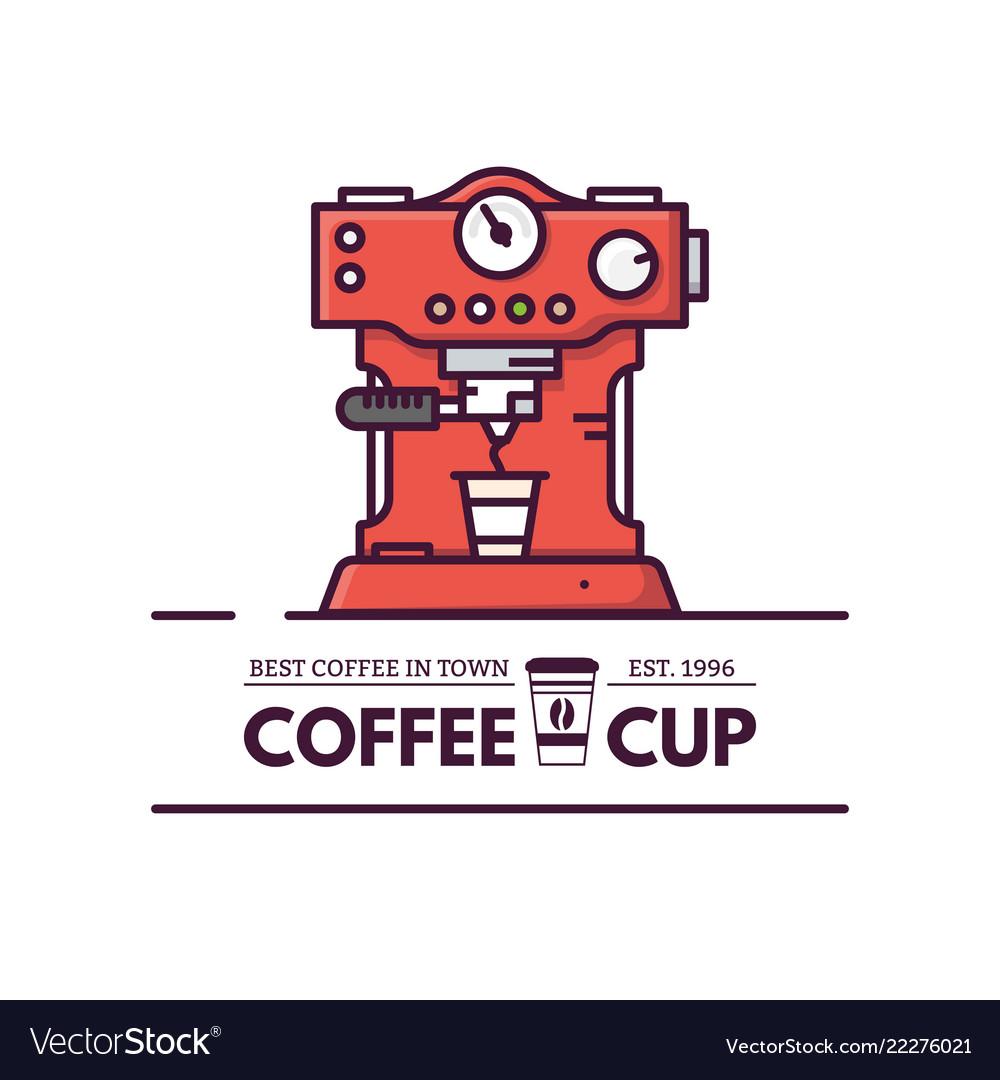 Coffee machine line style