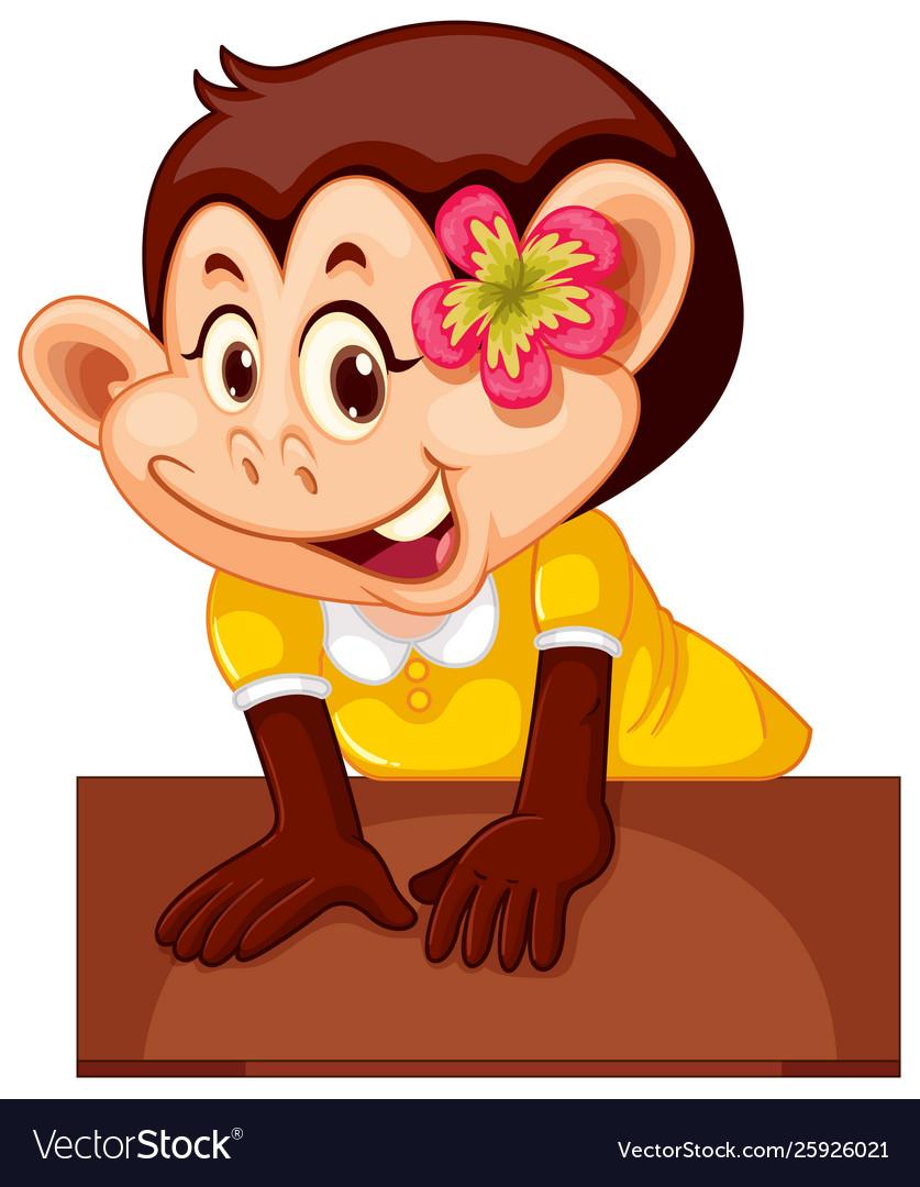 Cute female monkey character