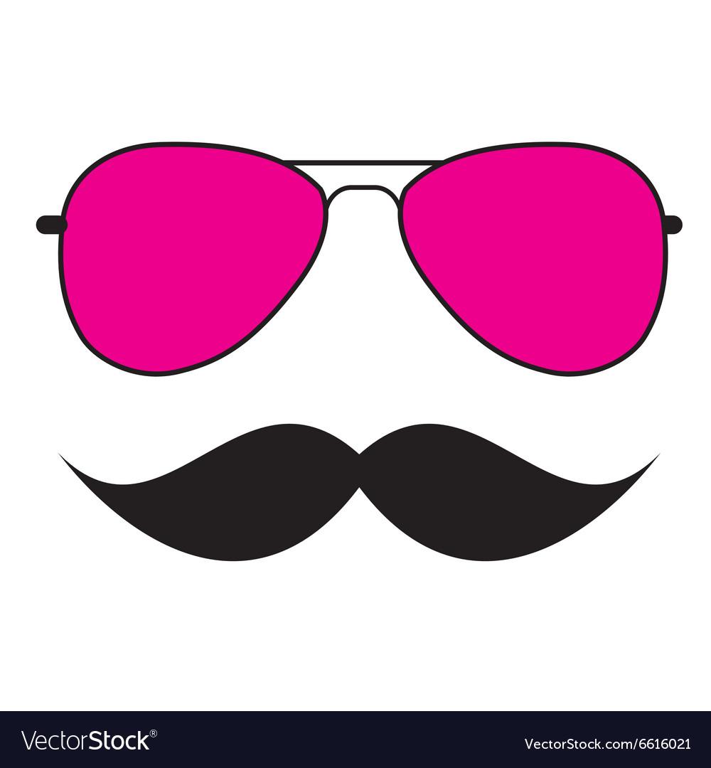 Cute Handdrawn Glasses and a Mustache