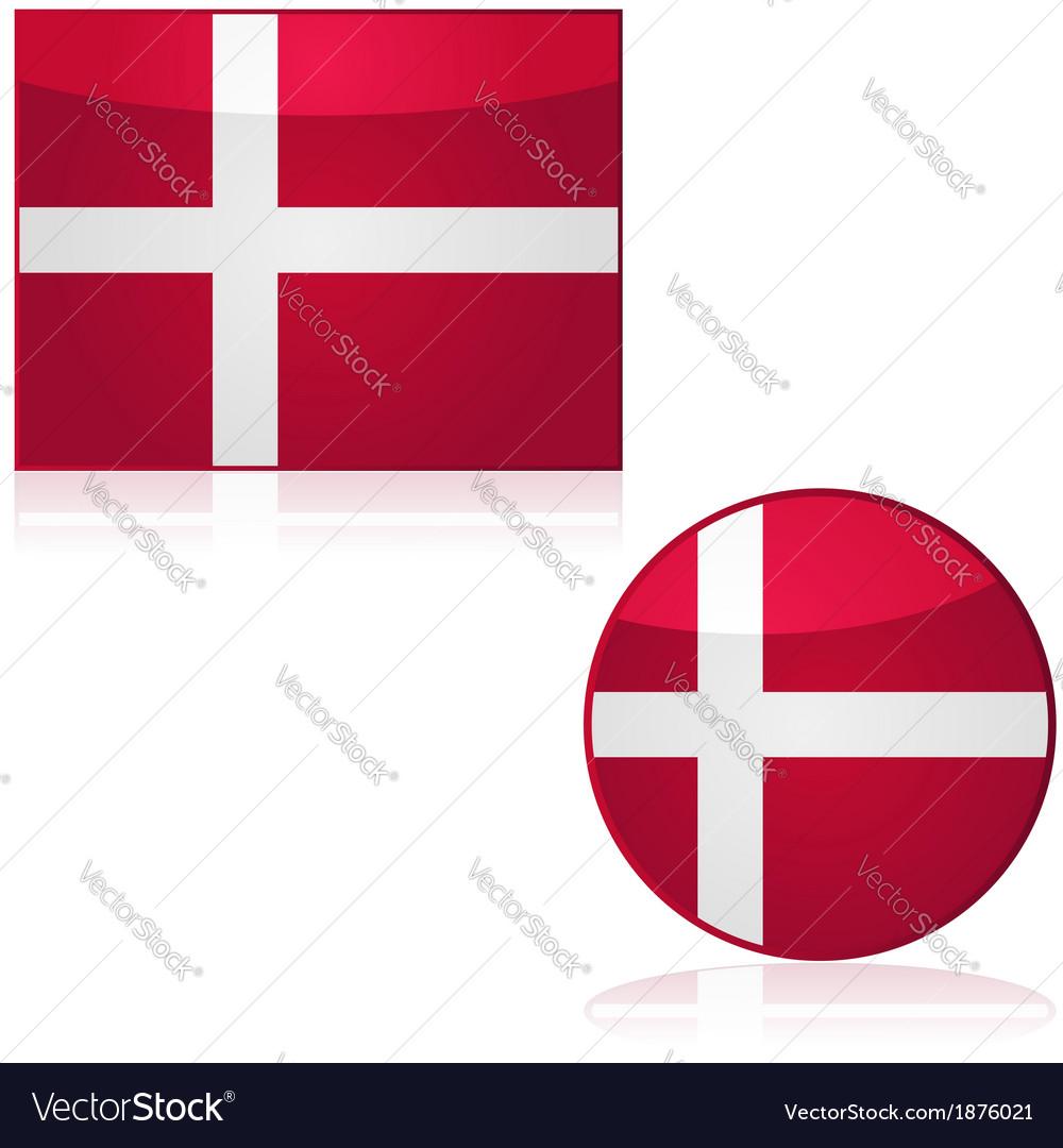Denmark flag and button