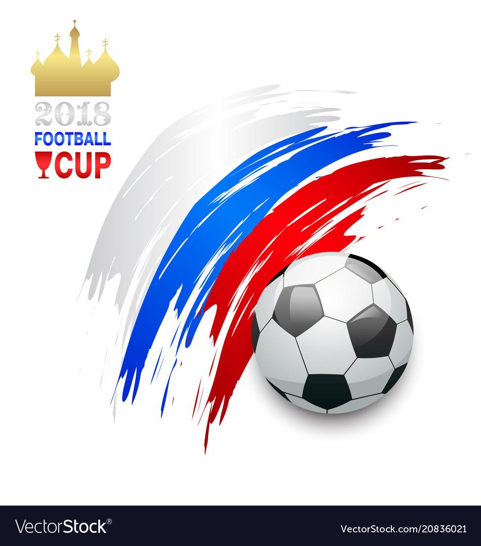 Football championship banner russia 2018 soccer
