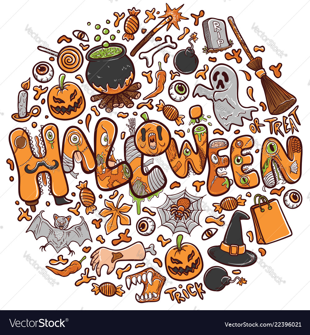 Happy halloween greeting card holiday
