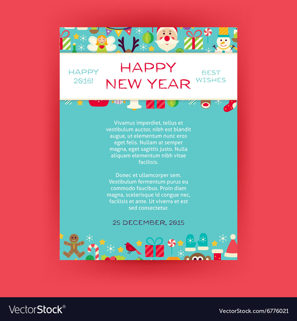 Happy New Year Invitation Template Flyer