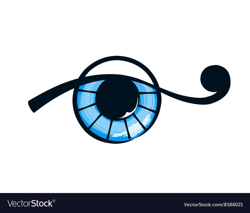 Isolate abstract eye vector image
