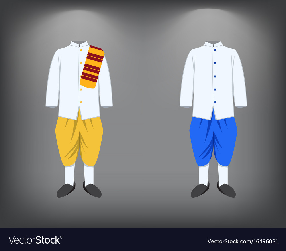 344b5fba5 Isolated men suit traditional thai costume Vector Image