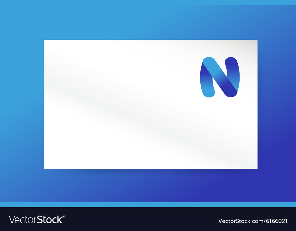 N letter logo icon monogram business card vector image reheart Images