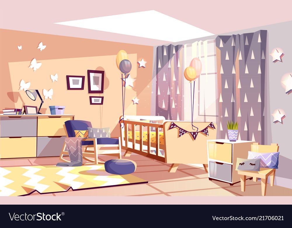 Nursery Baby Room Interior Royalty Free