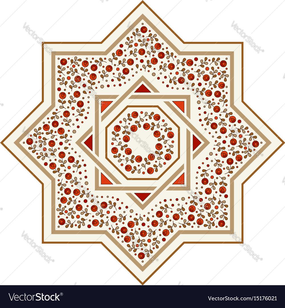 Patterned floor tile moroccan pattern